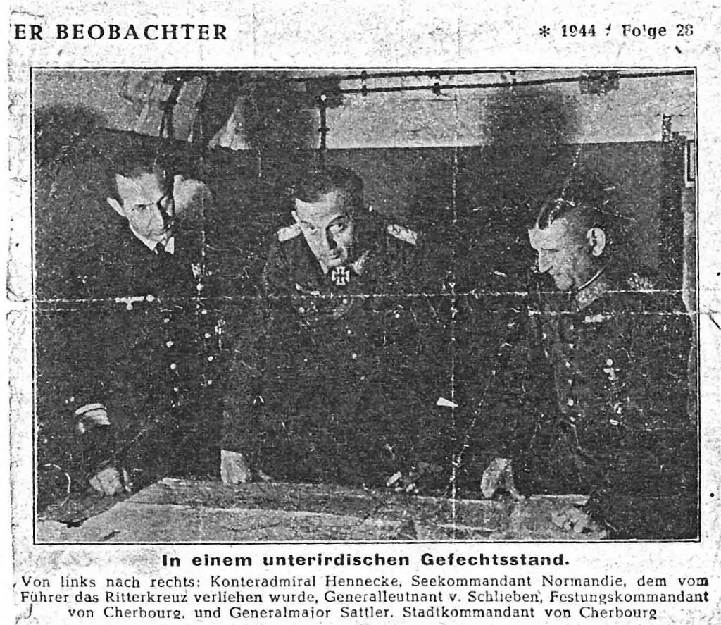 Aus dem Familienarchiv von von Schlieben ein Ausschnitt vom Völkischen Beobachter im Juni 1944 (Bild: Privat/Repro rg)
